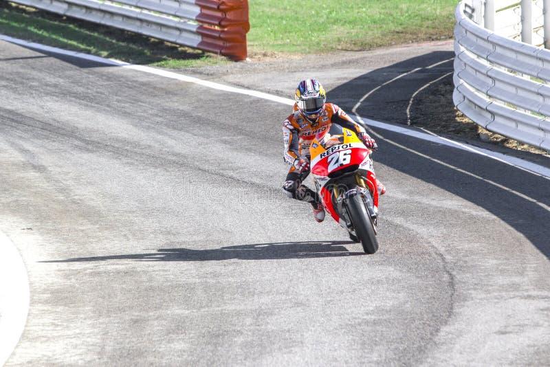 Dani Pedrosa of Repsol Honda team racing stock photos