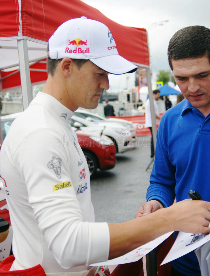 Download Dani Sordo Gives Autographs In Moscow Editorial Stock Photo - Image: 32459443