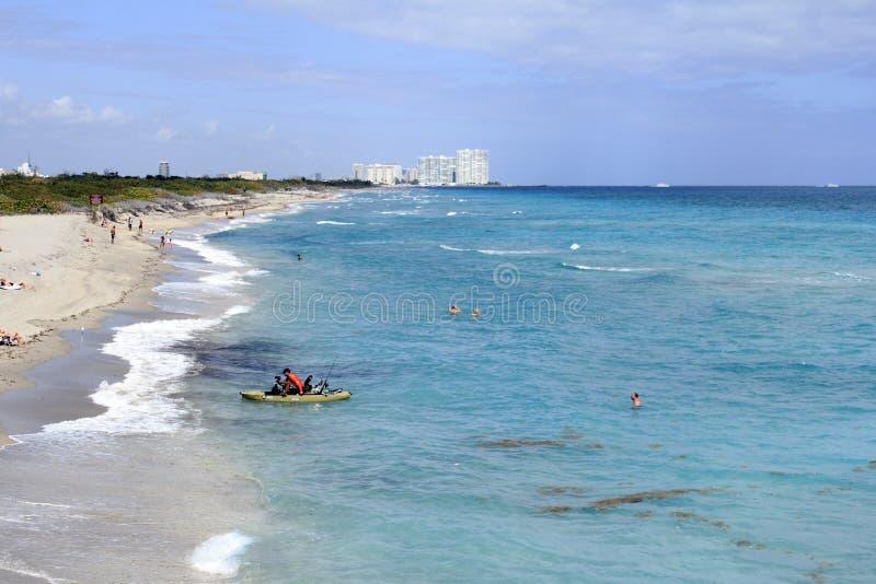 Dania Beach, la gente della costa di FL immagini stock libere da diritti