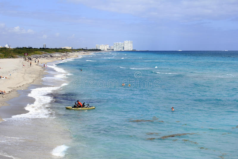 Dania Beach, personnes de côte de FL images libres de droits