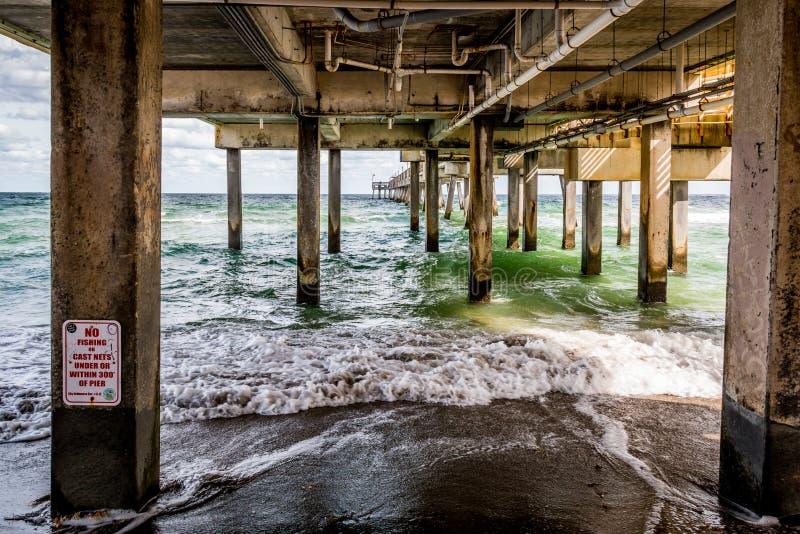 Dania Beach Pier stock image