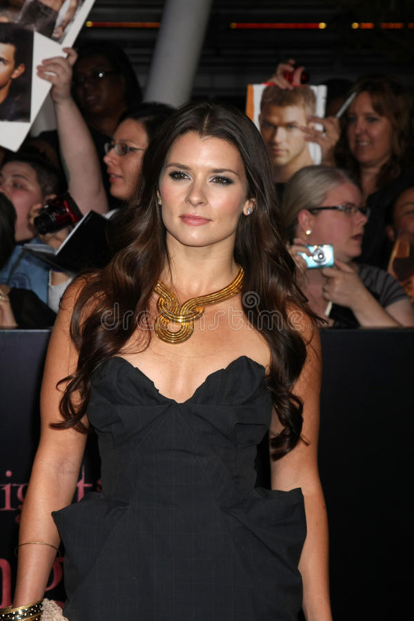 Danica Patrick. LOS ANGELES - NOV 14: Danica Patrick arrives at the Twilight: Breaking Dawn Part 1 World Premiere at Nokia Theater at LA LIve on November 14 royalty free stock image