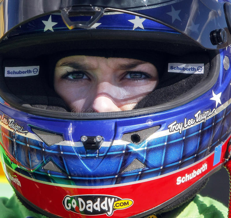 Danica Patrick. NASCAR and former Indy Car race driver Danica Patrick. Danica is the first woman race car driver to win the pole position at NASCAR's Daytona 500 stock image