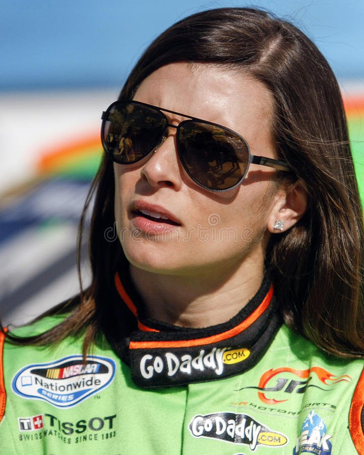 Danica Patrick. NASCAR and former Indy Car race driver Danica Patrick. Danica is the first woman race car driver to win the pole position at NASCAR's Daytona 500 royalty free stock images