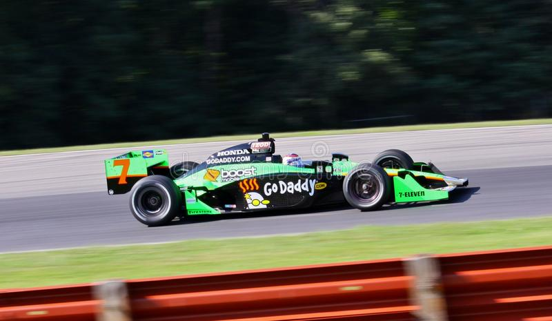 Danica Patrick. Drives at the Indycar race for Andretti Autosport team royalty free stock images
