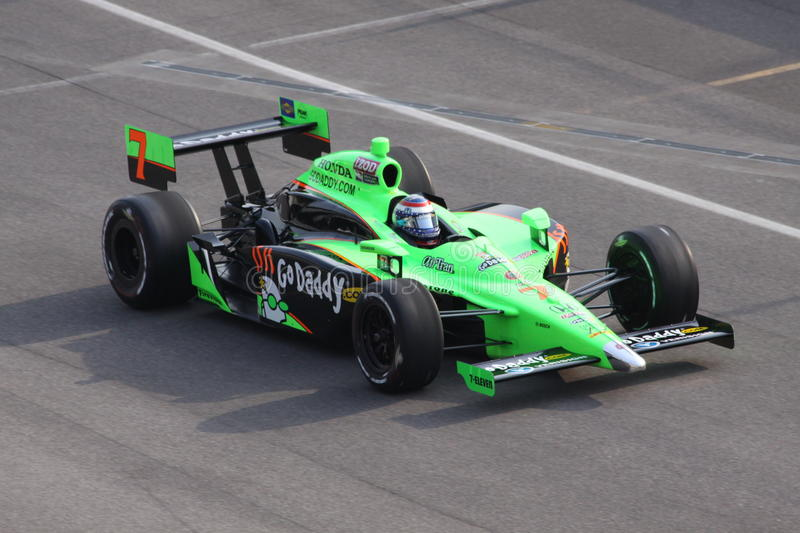 Danica Patrick Indianapolis 500 Pool Dag 2011 Indy stock afbeelding