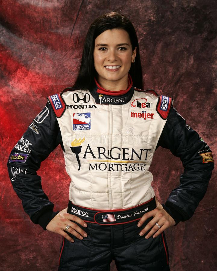 Danica Patrick at IRL Media Day. Danica Patrick participates in the Indy Racing League media day at Homestead Miami Speedway in Homestead, Florida on March 4 royalty free stock image