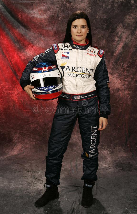 Danica Patrick at IRL Media Day. Danica Patrick participates in the Indy Racing League media day at Homestead Miami Speedway in Homestead, Florida on March 4 royalty free stock photos