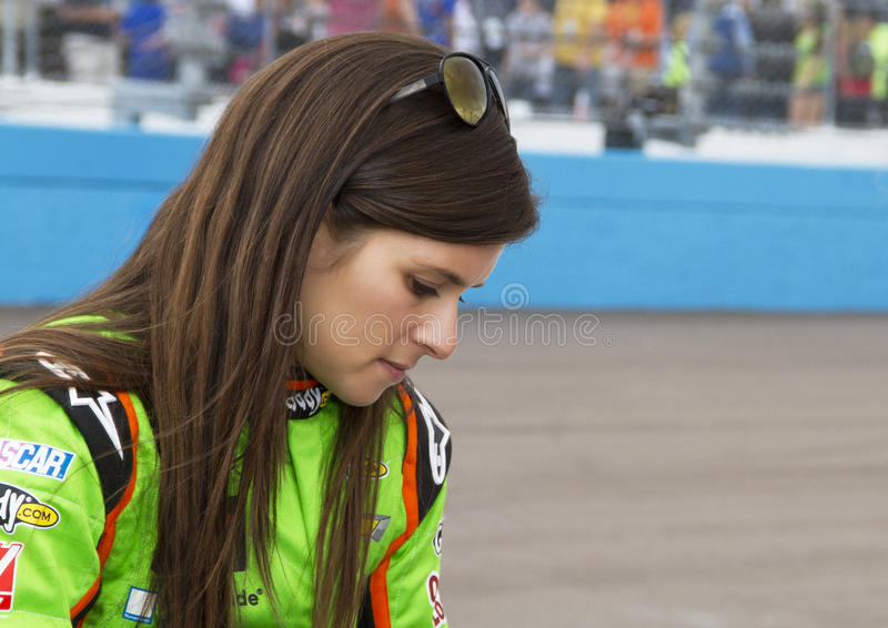 NASCAR Sprint Cup and Nationwide Danica Patrick. Danica Patrick before the start of the Subway Fresh Fit 500 NASCAR Sprint Cup Race in Phoenix, Arizona, USA stock image
