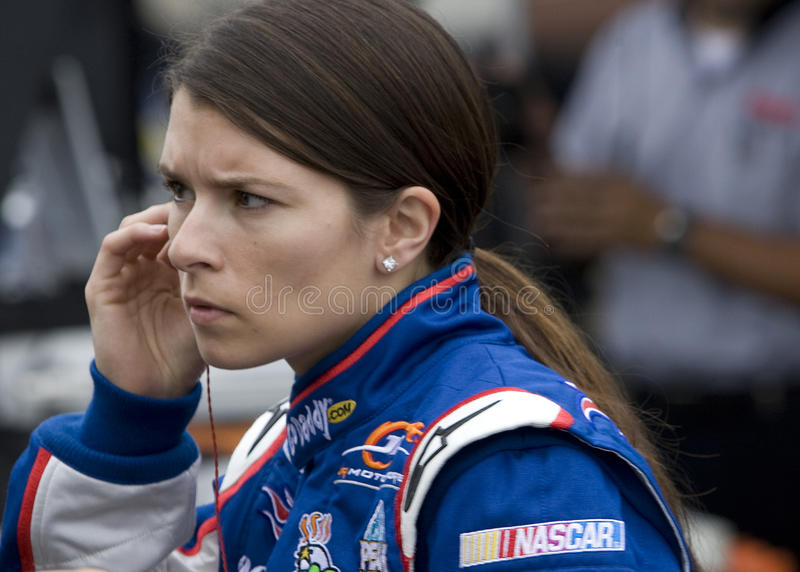 Danica Patrick at the track stock photo