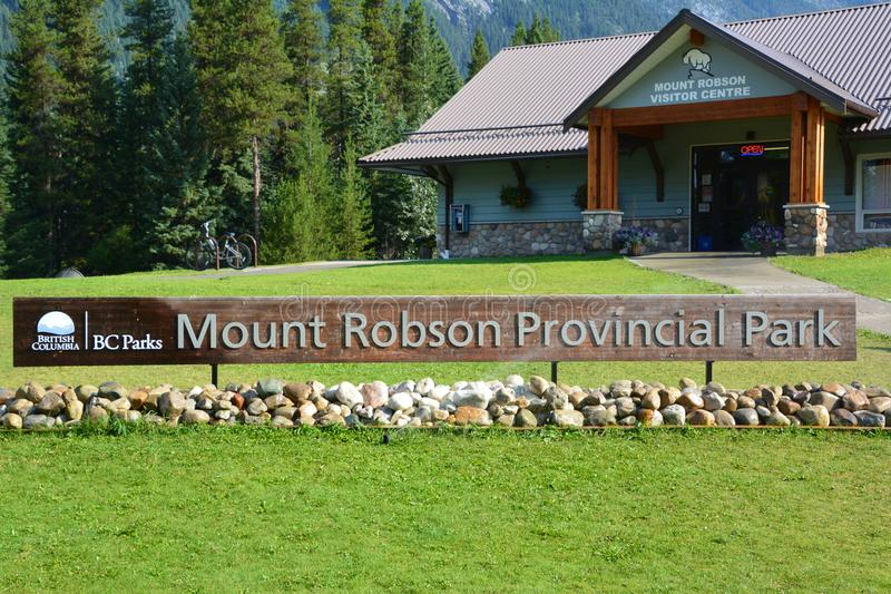 Danie główne góra Robson zdjęcia stock
