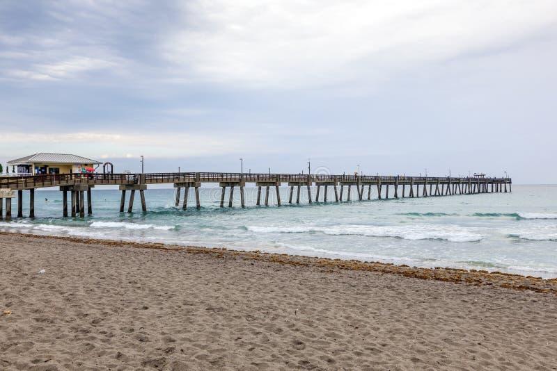 Danie plaży połowu molo, Floryda zdjęcia stock