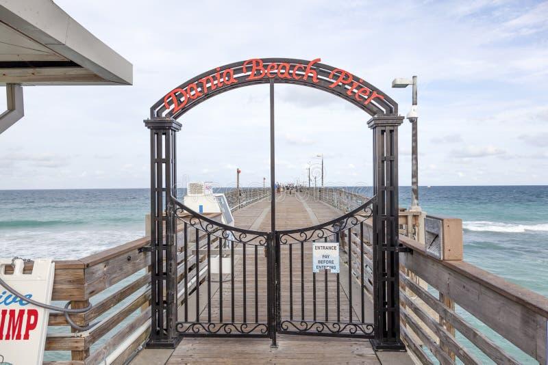 Danie plaży połowu molo, Floryda fotografia royalty free