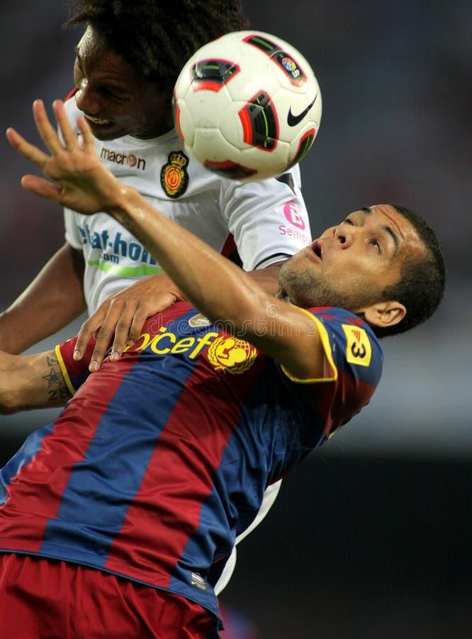 Daniel Alves van FC Barcelona royalty-vrije stock foto's
