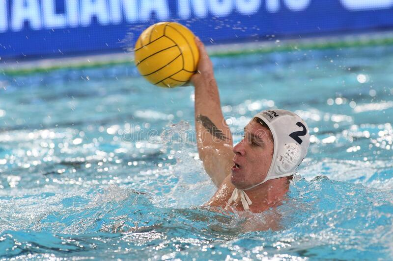 Waterpolo International Teams International Quadrangular - Hungary vs Greece. Daniel angyal (hungary) during International Quadrangular - Hungary vs Greece royalty free stock photography