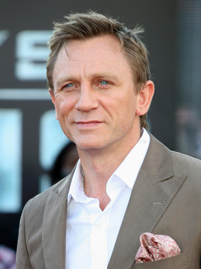 Daniel Craig imagenes de archivo