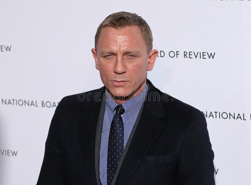 Daniel Craig. British actor Daniel Craig, the current James Bond series star, arrives on the red carpet of the National Board of Review Gala at Cipriani's royalty free stock photos