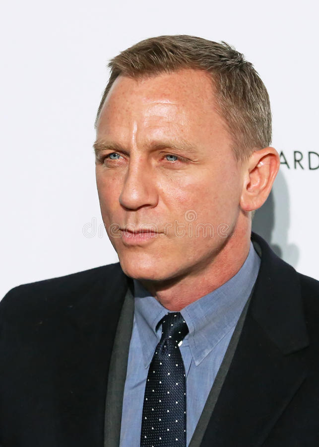 Daniel Craig. British actor Daniel Craig, the current James Bond series star, arrives on the red carpet of the National Board of Review Gala at Cipriani's stock image