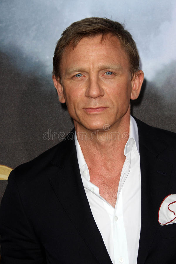 Daniel Craig. At the 'Cowboys & Aliens' World Premiere, San Diego Civic Theatre, San Diego, CA. 07-23-11 royalty free stock photo