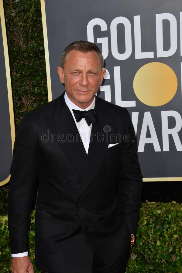 Daniel Craig. LOS ANGELES, USA. January 06, 2020: Daniel Craig arriving at the 2020 Golden Globe Awards at the Beverly Hilton Hotel..Picture: Paul Smith/ stock photography