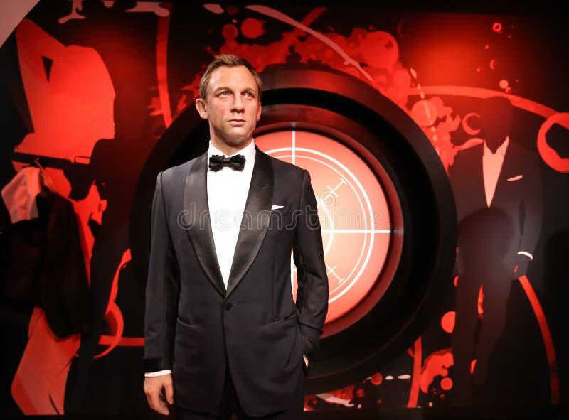 Daniel Craig, Mevrouw Tussauds stock afbeelding