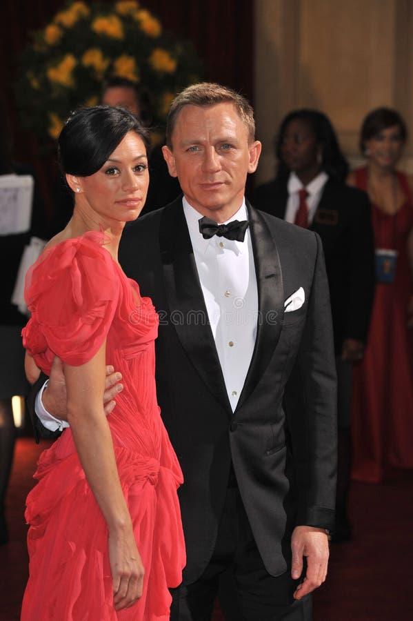 Daniel Craig, Satsuki Mitchell imagens de stock