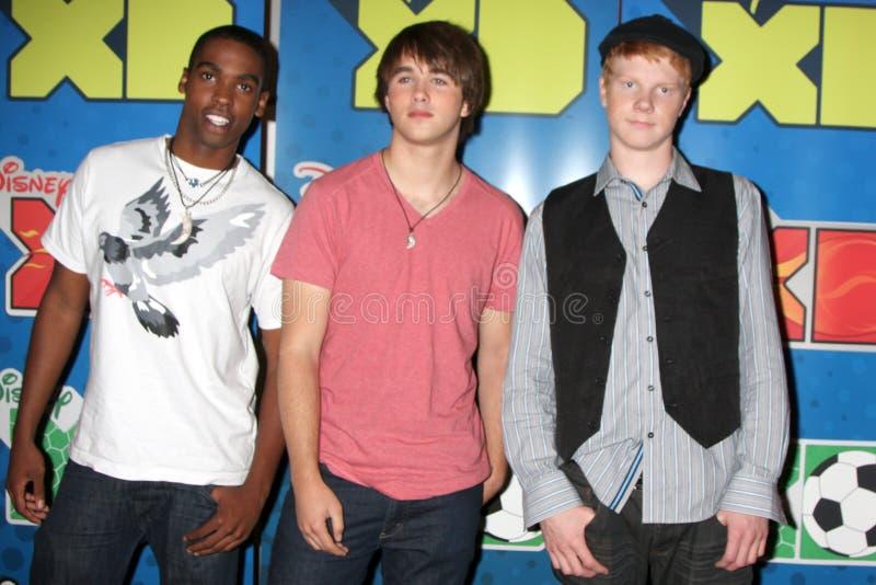 Daniel Curtis Lee, Adam Hicks, Hutch Dano royaltyfri foto