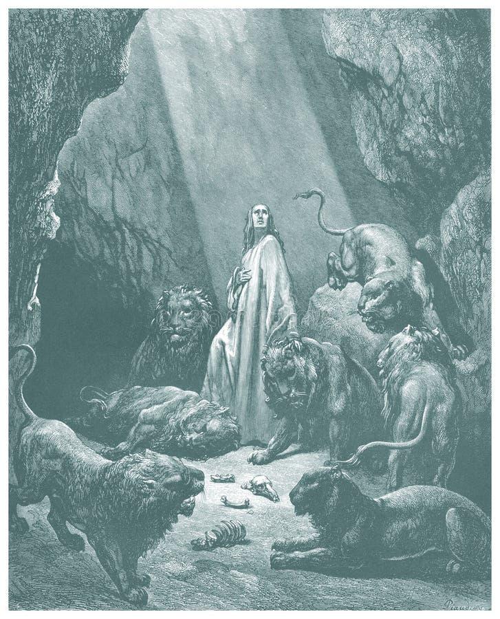 Daniel dans le croquis du repaire des lions