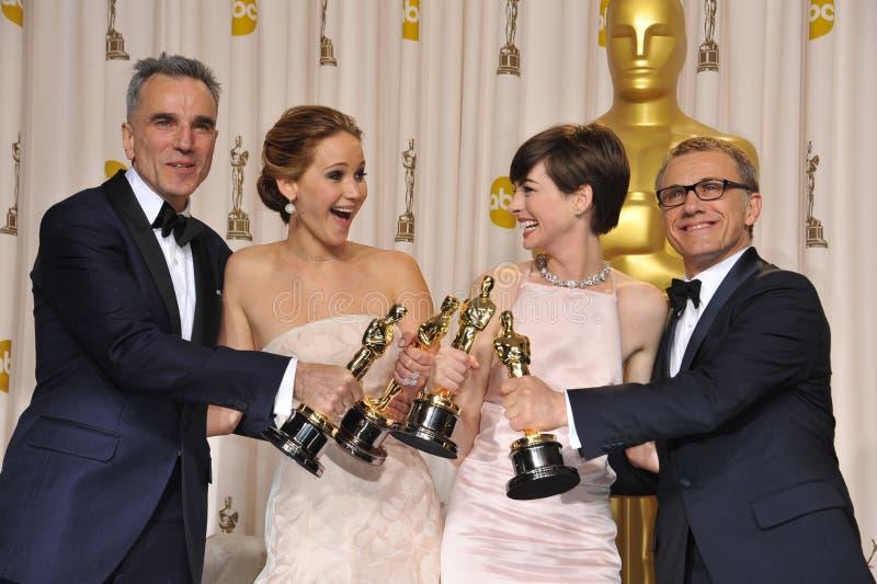 Anne Hathaway, Christoph walc zdjęcie royalty free