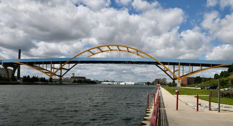Daniel Hoan Memorial Bridge lizenzfreie stockbilder