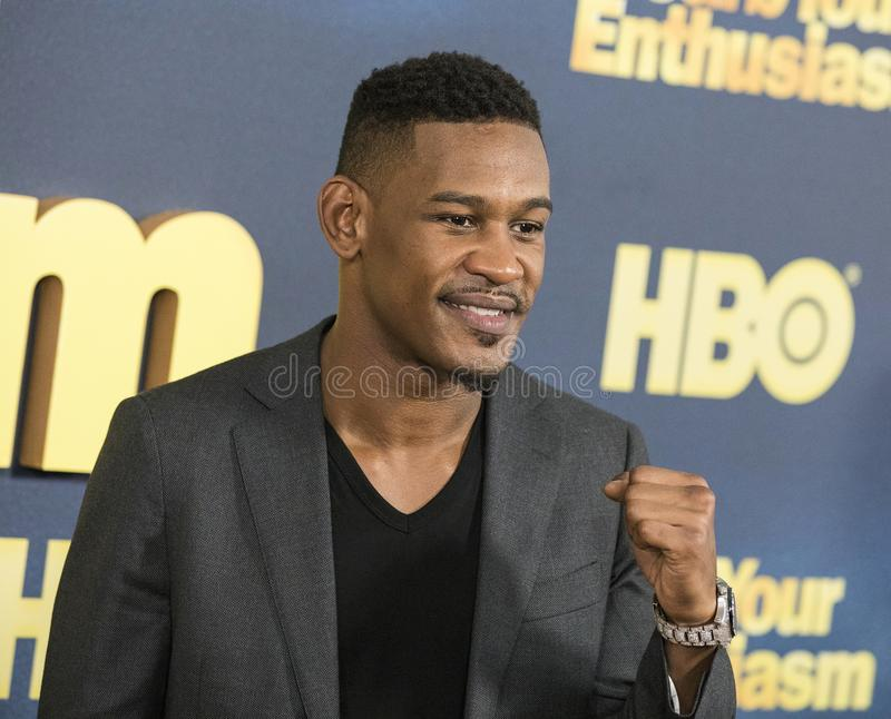 Daniel Jacobs. Boxer Daniel `Danny` Jacobs arrives for the NY premiere of the 9th season of HBO`s hit comedy, `Curb Your Enthusiasm.` Larry David plays a stock photography
