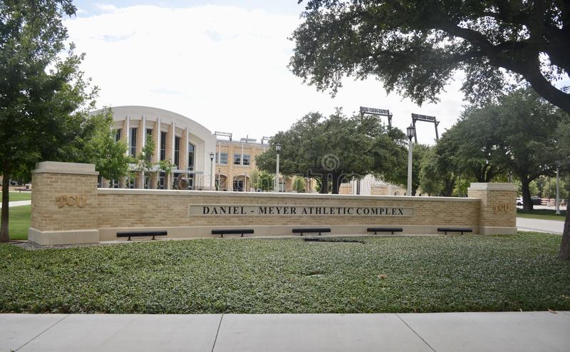 Daniel Meyer Athlectic Complex en Texas Christian University fotografía de archivo libre de regalías