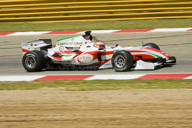 Daniel Morad (équipe Liban) photo stock