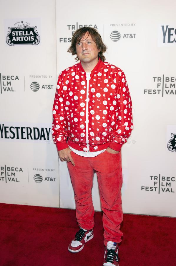 Daniel Pemberton at the World Premiere of `Yesterday` at the Closing Night Gala of the 2019 Tribeca Film Festival. Composer Daniel Pemberton arrives at the stock image