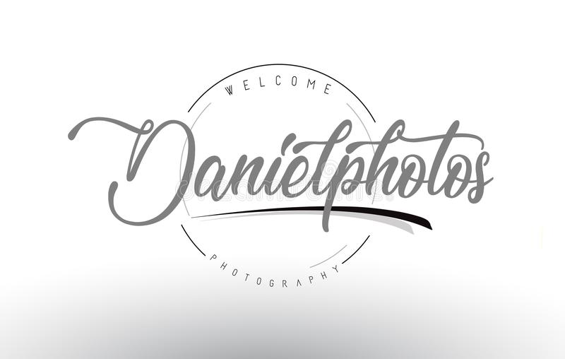 Daniel Personal Photography Logo Design met Fotograaf Name vector illustratie