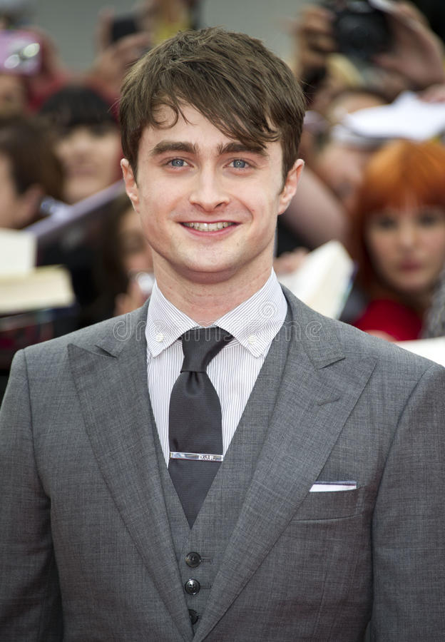 Daniel Radcliff. E arriving for the World Premiere of 'Harry Potter & the Deathly Hallows pt2', Trafalgar Square, London. 07/07/2011 Picture by: James McCauley stock photography