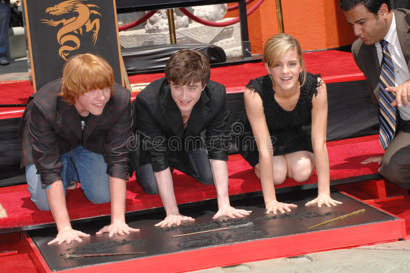 Daniel Radcliffe, Emma Watson, Rupert Grint lizenzfreies stockfoto