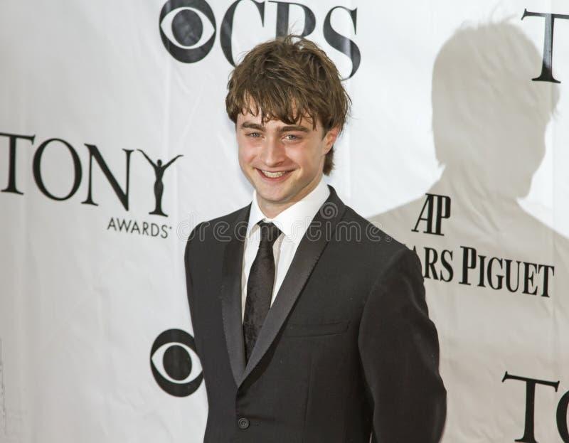 Daniel Radcliffe Przyjeżdża przy 64th Tonys w 2010 zdjęcia royalty free