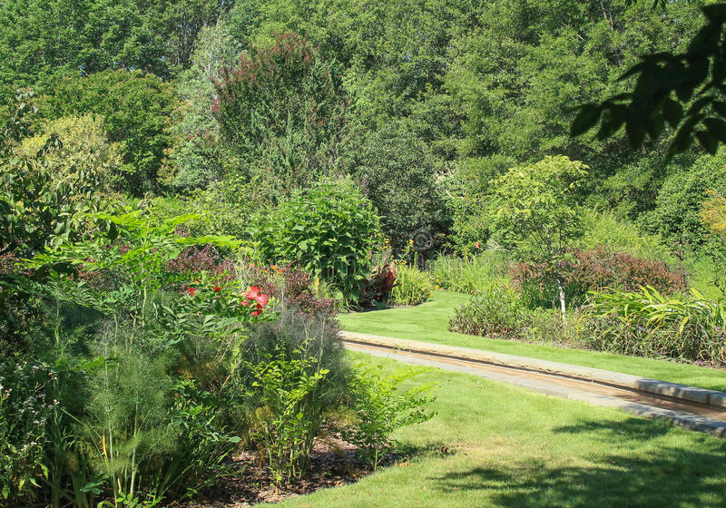 Daniel Stowe Garden 2. Walking trails and gardens at the Daniel Stowe Botanical Garden in Belmont NC royalty free stock photos