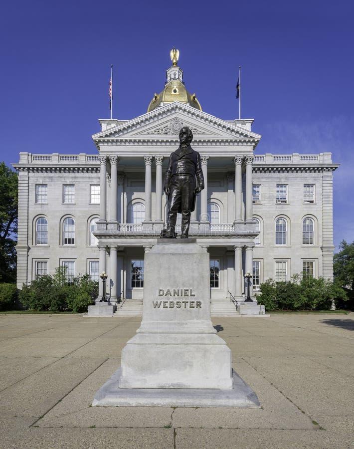 Daniel Webster staty arkivfoto