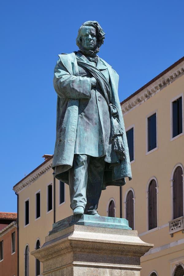 "Daniele Manin staty vid Luigi Borro †1826 ""1880 i Venedig, Italien royaltyfria foton"