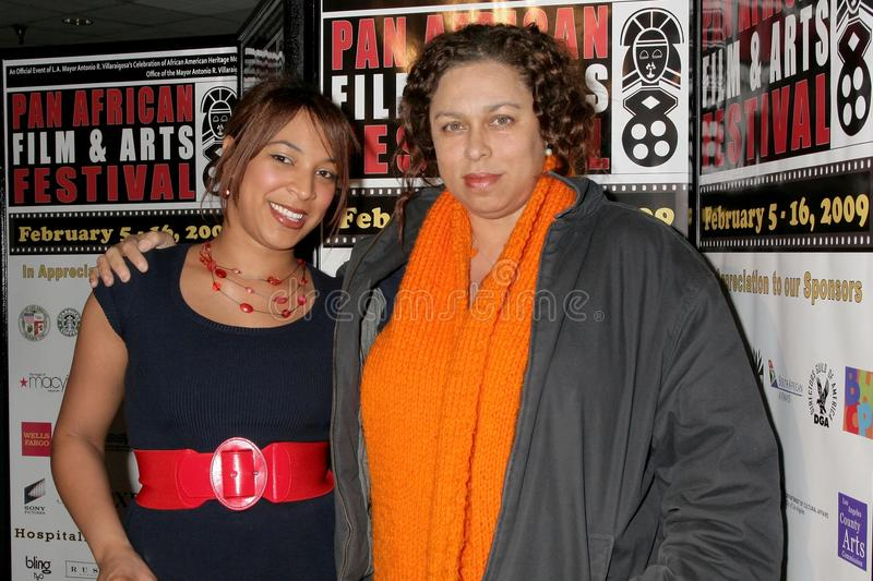 Daniella Blechner and Lydia Martinelli at the Pan African Film Festival Premiere of 'Layla'. Culver Plaza Theatre, Culver City, CA. 02-13-09 stock image