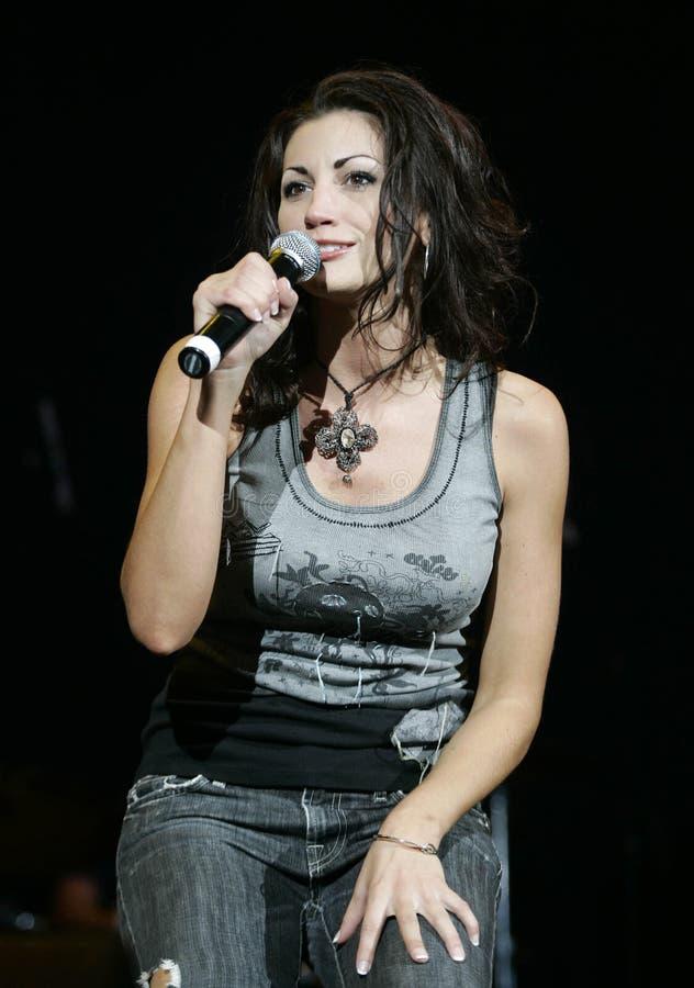 Danielle Peck executa no concerto imagem de stock royalty free