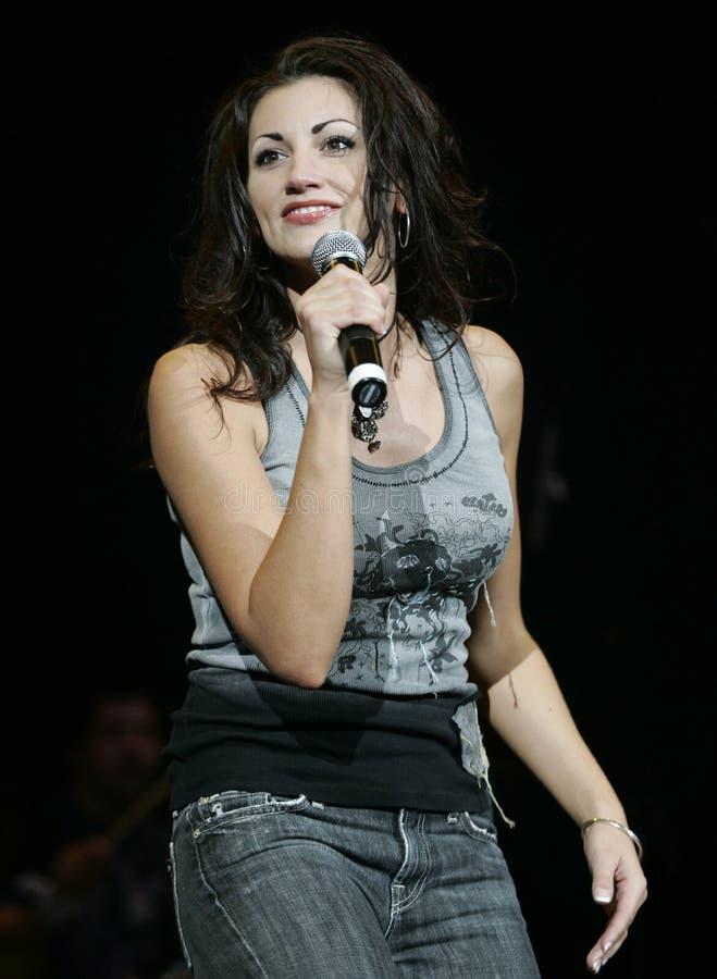 Danielle Peck executa no concerto fotos de stock