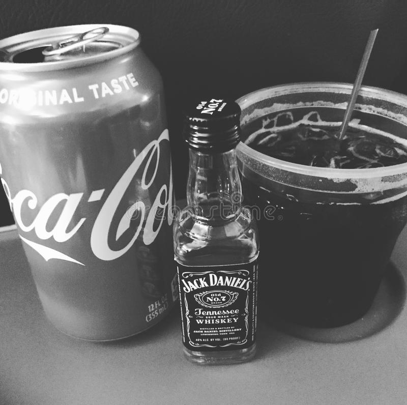 Daniels et coke de Jack photo stock