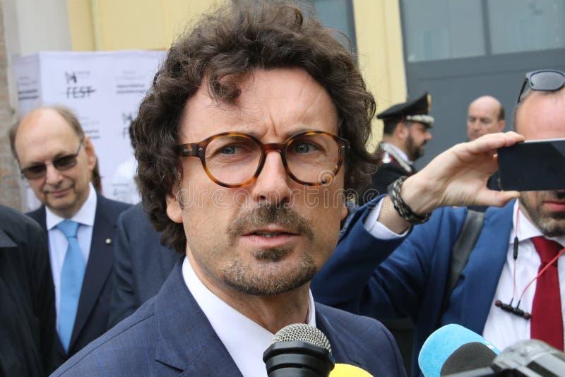 Danilo Toninelli, ministro italiano, Módena foto de archivo libre de regalías