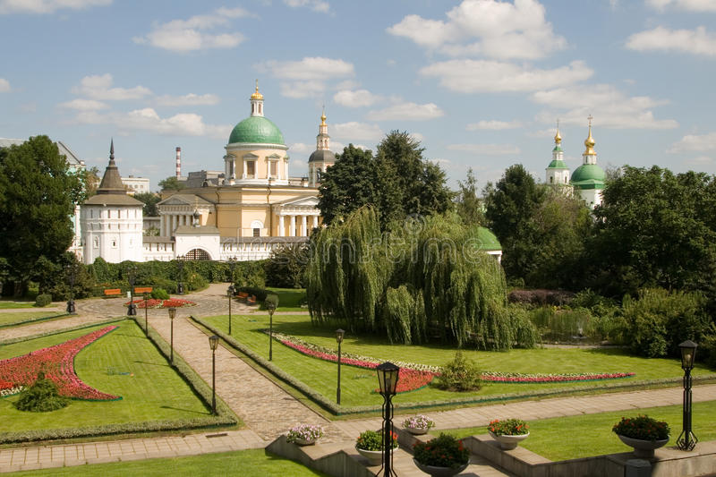 danilovsky修道院神圣的莫斯科 免版税库存图片