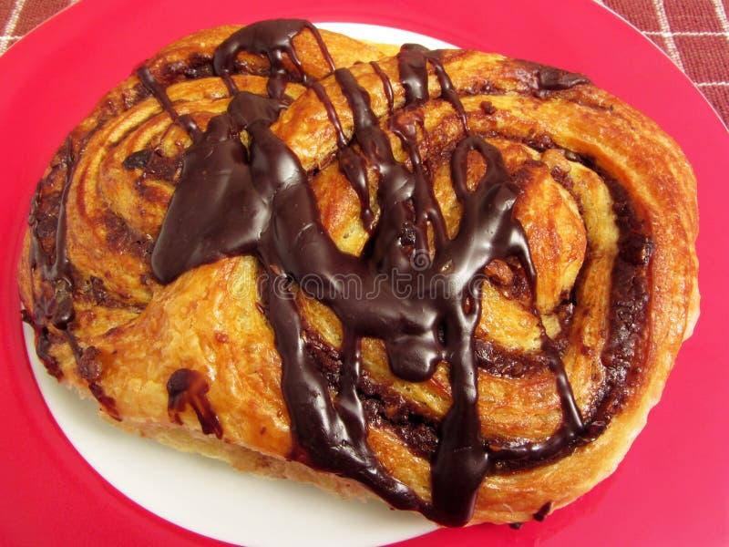 Danish круассана шоколада для десерта стоковое изображение rf