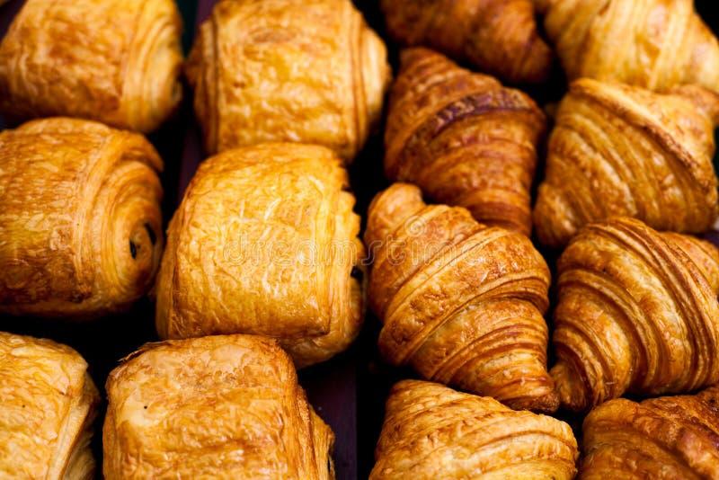 Danish bread. Many types of Denish bread stock photo
