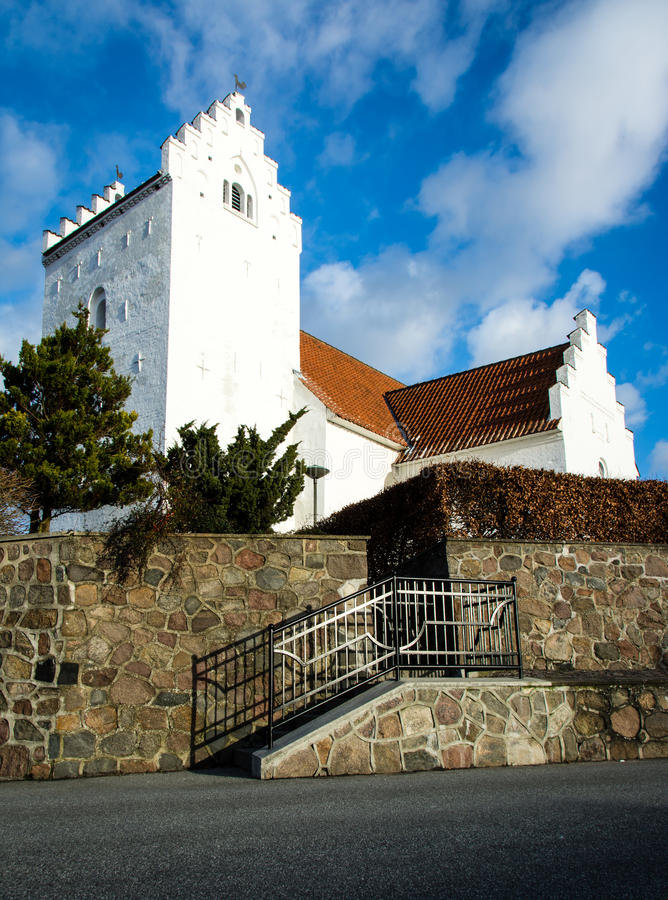 Danish church - Tilst royalty free stock images
